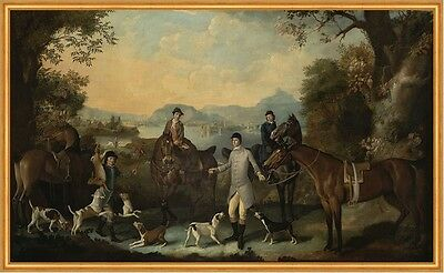 The Death of the Hare Jagen Pferde Hunde Tiere Beute Jäger Wald Ritt B A1 00057