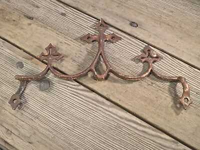 3 crosses old rustic cast iron architectural element gate top fence widow's walk