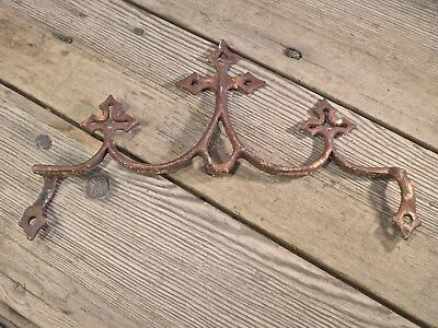 3 gothic crosses old rustic iron architectural element gate top fence folk art