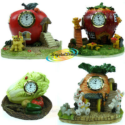 Poly Stone Novelty Resin Table Hand Painted Quartz Watch Movement Gift Clocks