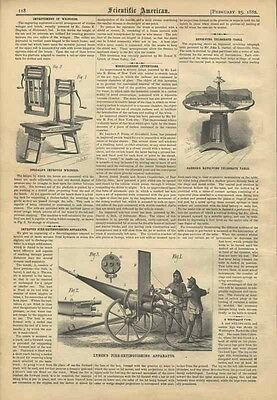 1882 Firefighting History Fire Extinguishing Apparatus Scientific American Old