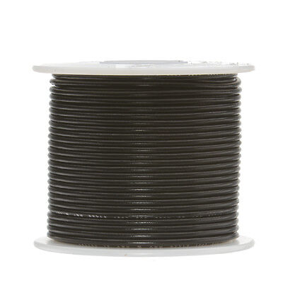"18 AWG Gauge Stranded Hook Up Wire Black 100 ft 0.0403"" UL1007 300 Volts"