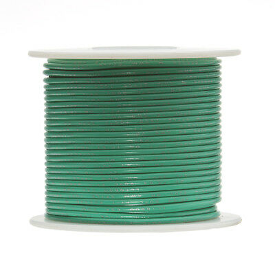 """18 AWG Gauge Stranded Hook Up Wire Green 100 ft 0.0403"""" UL1007 300 Volts"""