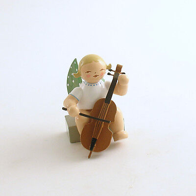 Angel Figurine Cello Wendt & Kuhn Wood Christmas Germany