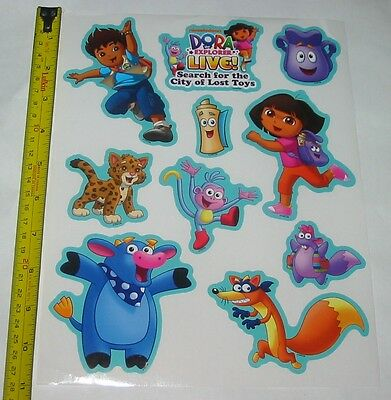 DORA The Explorer 100 Full Size Sheets 1000 total Stickers Genuine Licensed NEW!