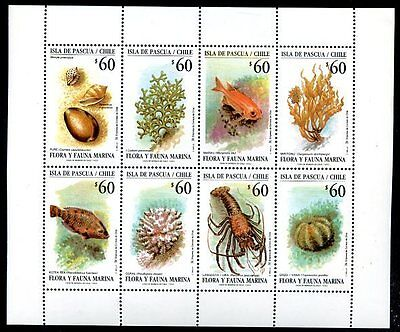 CHILE - PASCUA ISLAND Yvert # 1121/8, Complete Set, MNH, VF