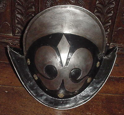 Black & White Morion Helmet of the Munich Town Guard, ca. 1600, PRICE REDUCED!