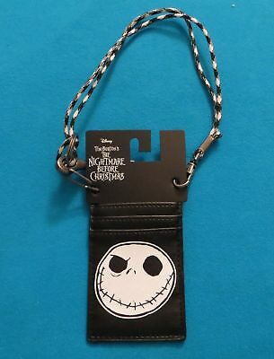 Nightmare Before Christmas Jack Skellington Paracord Wallet New