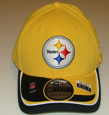 New Era Hat Cap NFL Football Pittsburgh Steelers Reverse 39THIRTY M/L Flex Fit