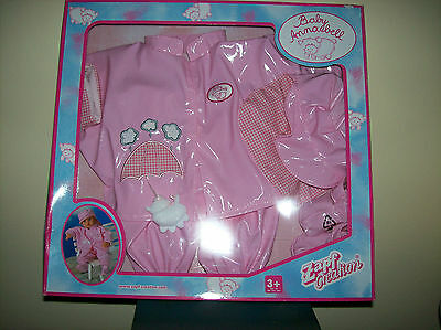 """ZAPF CREATIONS BABY ANNABELL BABY DOLL RAIN COAT OUTFIT FOR 18"""" NIB!"""