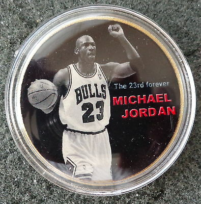 MICHAEL JORDAN  1 oz  24 KT .gold plated  COLLECTIBLE  COIN  # 8