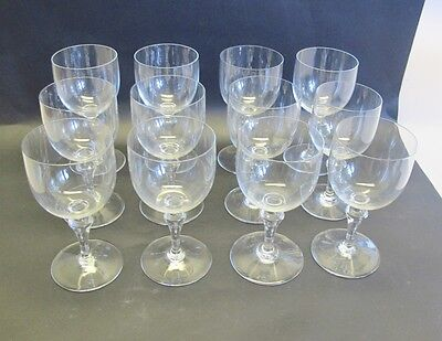 """Set of 6 Signed Baccarat French Crystal Water Red Wine Glasses MINT  6.75"""" Tall"""