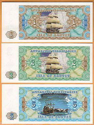 Isle Of Bouvet/norway/antarctic  Lot Of 7 Unc Seria C 2012 Rare Modern Issue!