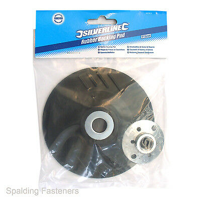 115mm Rubber Backing Pad For Use With M14 Angle Grinders & Fibre Discs