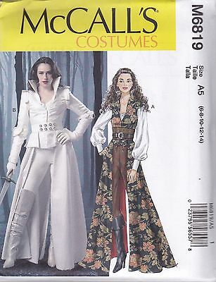 MCCALL\'S SEWING PATTERN MISSES\' STEAMPUNK STAR WARS COATS TOPS ...