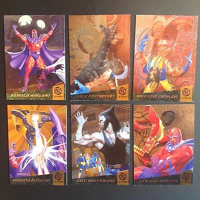 1994 Ultra X Men Complete Fatal Attractions Marvel Comic Trading Card Chase Set