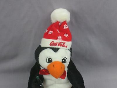 Coca-Cola Coke Classic Black Penguin Plush Stuffed Animal Beanbag Christmas Toy