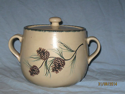 Home & and Garden Party Northwoods Pinecone Bean Pot / Cookie Jar