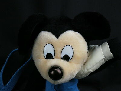 Vintage Mickey Mouse Disney Backpack Purse Workout Bag Plush Stuffed Animal Toy
