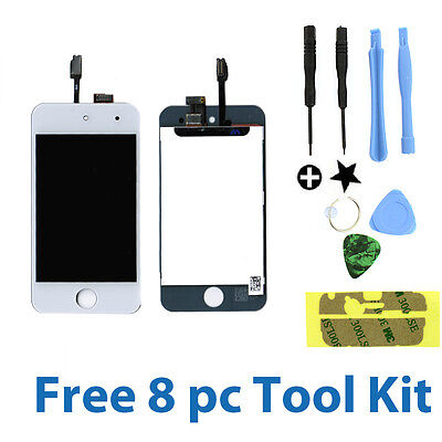 White iPod Touch 4 4th Gen 4G Replacement LCD Screen Digitizer Glass Assembly