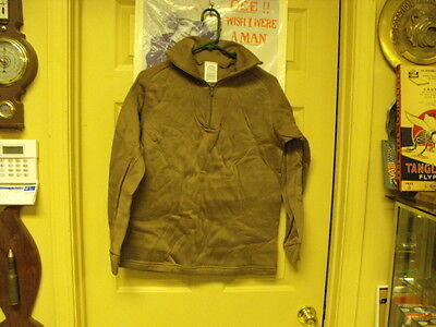 US Military Issue Cold Weather  Undershirt , Polypro, Brown, Size  medium New