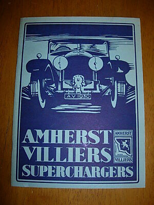 Amherst Villiers Superchargers Repro  Brochure