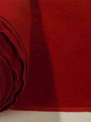Red 100% Cotton Velvet Velour Fabric Upholstery Drapery Sold Per Yard 54 in Wide