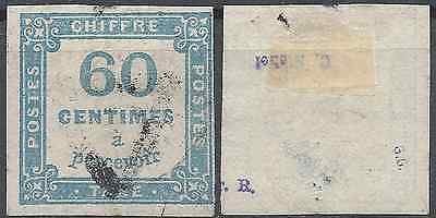 ---- France Timbre Taxe N°9 Signe - Oblitération Triangle - Cote 150€ ----