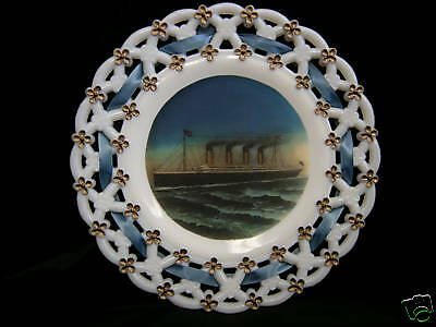 White Star Line RMS Titanic Antique Ribbon Plate!!
