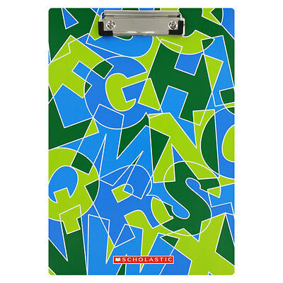 """Scholastic Bright Graphic Alphabet Clipboard, Blue And Green"""