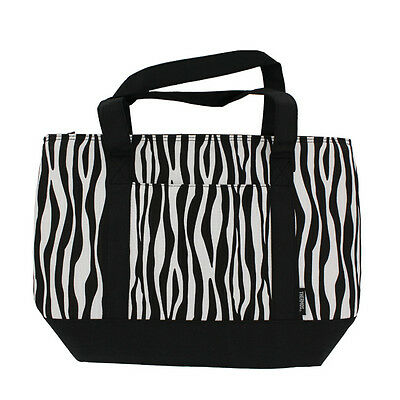 Thermos Insulated 12 Can Lunch Shopping Tote Bag Zebra