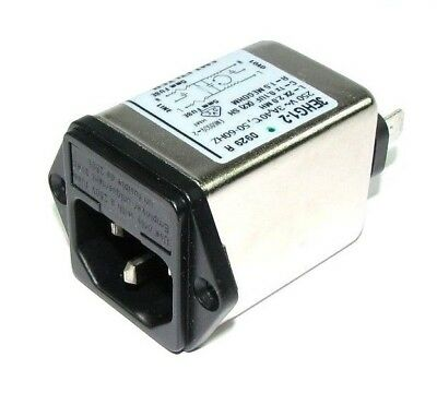 Tyco Corcom 3EHG1-2  AC-Filter Fused Power Entry Module 3A IEC 1/4 Faston Flange