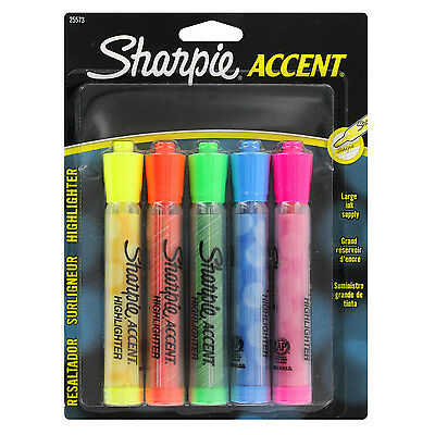 """""""Sharpie Generation Highlighters, 5 Colored Highlighters"""""""