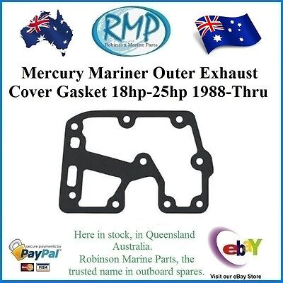 A Brand New Mariner Mercury Outer Exhaust Cover Gasket 18hp-thru-25hp  27-414995