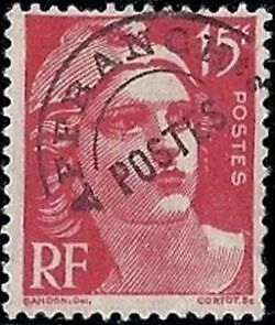 """FRANCE PREOBLITERE TIMBRE STAMP N° 104 """" TYPE MARIANNE 15F ROUGE """" NEUF (x) TB"""