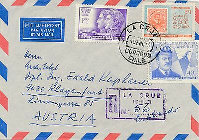 Reco Brief 1970 aus La Cruz, Chile nach Klagenfurt  12/9/14