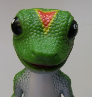 Geico GECKO Figurine with Base - green lizard - toy icon insurance toy