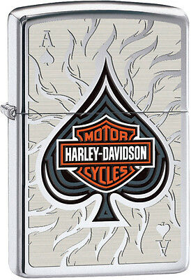 Zippo Harley Davidson HD Ace of Spades High Polish Chrome Lighter 28688 L@@K NEW