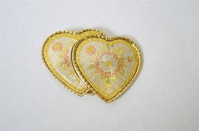 New Western Belt Buckle Silver Etched Gold Made in USA Stamped W Doulbe Hearts