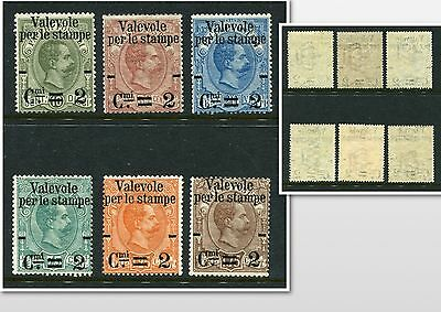 ITALY 1890 Overprinted MNH Set 6 Stamps cat Euro 820