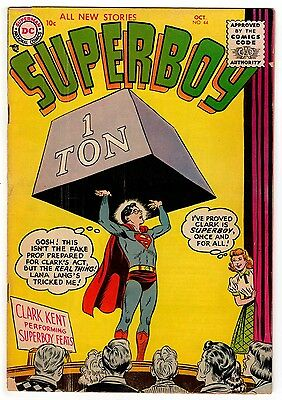Superboy #44 3.5 Tan To Off-White Pages Silver Age