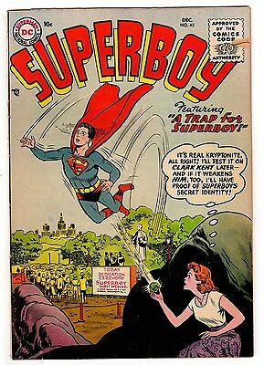 Superboy #45 3.5 Tan To Off-White Pages Silver Age