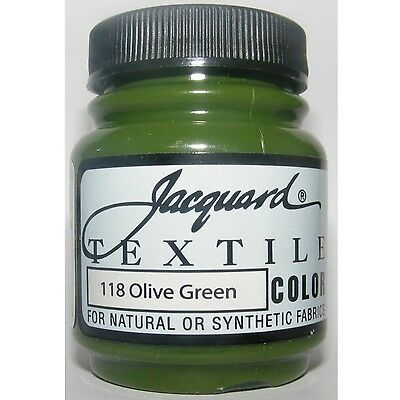 'olive Green ' Natural Or Synthetic Fabric Paint