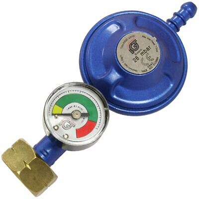 Butane Gas Regulator 4.5kg Bottle + Dial Level Gauge Caravan Boat Motorhome