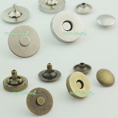 Magnetic snaps purse Double Rivet closures Round Clasp Stud Button Bag Leather