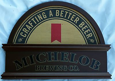 "New Wooden Michelob Sign beer bar pub 20.5"" x 15.25"" x .75"""