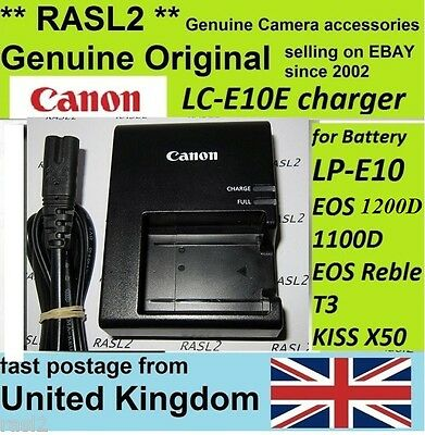 Genuine Original Canon Charger LC-E10e EOS 1100D 1200D Rebel T3 T5, Kiss X50 X70