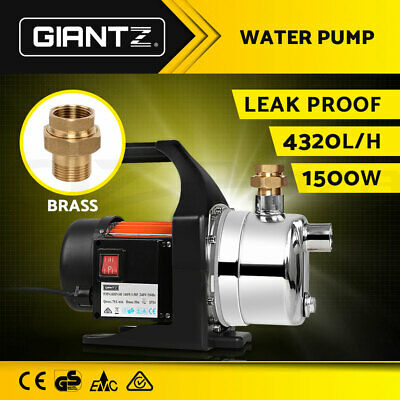 WEATHERPROOF 1500W Garden Water Pump High Pressure Tank Rain Pond Irrigation