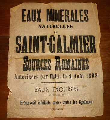Eaux Minerales : Saint Galmier Sources Romaines  1898  !