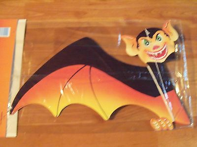 "Vintage Paper Fantasies 24"" Bat Halloween Honeycomb Hanging Decoration  NOS"